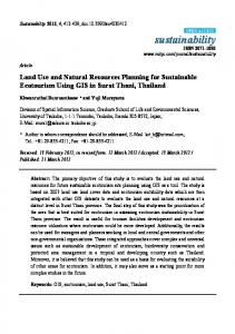 Land Use and Natural Resources Planning for Sustainable - MDPI