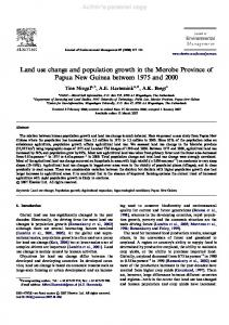Land use change and population growth in the