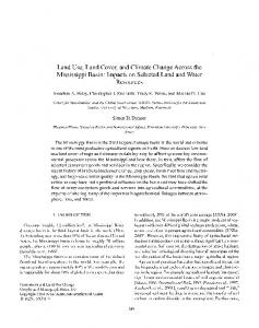 Land Use, Land Cover, and Climate Change Across the Mississippi ...