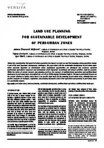 land use planning for sustainable development of peri-urban zones