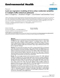 Land use regression modeling of intra-urban residential variability in ...