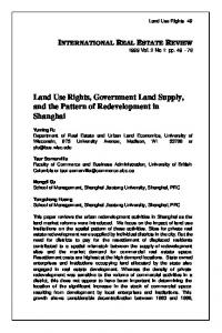 Land Use Rights, Government Land Supply, and the ...