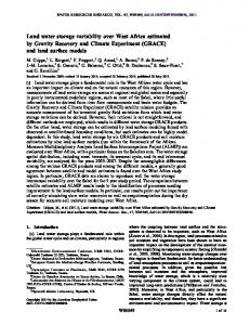 Land water storage variability over West Africa ... - Wiley Online Library