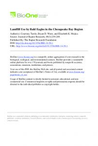Landfill Use by Bald Eagles in the Chesapeake Bay ...