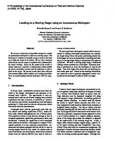 Landing on a Moving Target using an Autonomous ... - Semantic Scholar