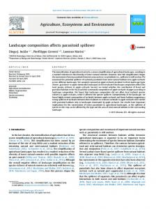 Landscape composition affects parasitoid spillover