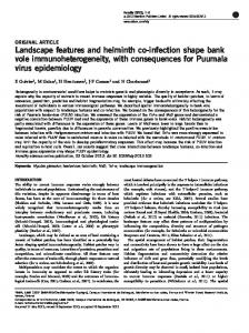 Landscape features and helminth co-infection ...