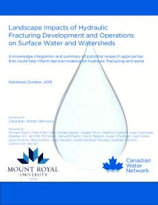 Landscape Impacts of Hydraulic Fracturing