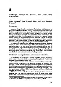 Landscape management decisions and public-policy interventions