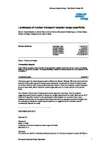 Landscape of nuclear transport receptor cargo€specificity - Molecular