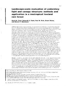 Landscape-scale Evaluation of Understory Light ... - Professor Paul Rich