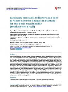 Landscape Structural Indicators as a Tool to Assess Land Use ...