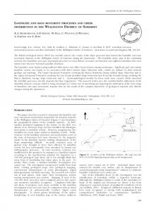 landslide and mass movement processes and their distribution in the ...