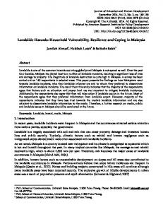 Landslide Hazards: Household Vulnerability