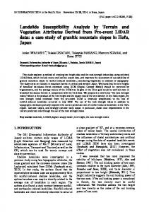 Landslide Susceptibility Analysis by Terrain and Vegetation Attributes ...
