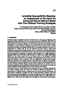Landslide Susceptibility Mapping: an Assessment of ...