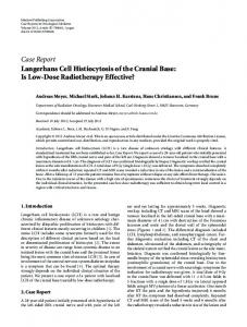 Langerhans Cell Histiocytosis of the Cranial Base: Is Low-Dose ...