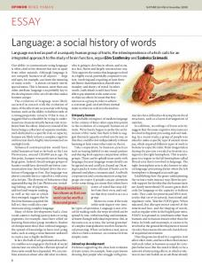 Language: a social history of words ESSAY