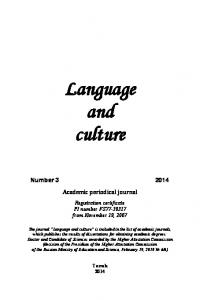 Language and culture