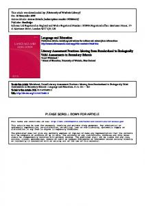 Language and Education Literacy Assessment Practices ... - Core