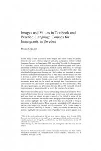 Language Courses for Immigrants in Sweden - Swedish Research ...
