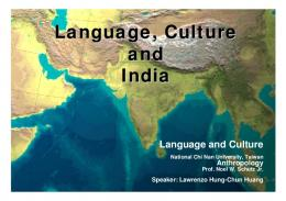 Language, Culture and India