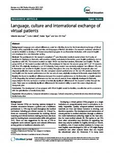 Language, culture and international exchange of ...