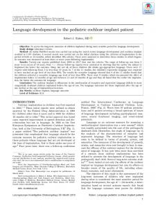 Language development in the pediatric ... - Wiley Online Library