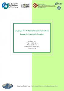 Language for Professional Communication - Department of English