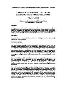 language independent document retrieval using