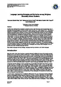 Language Learning Strategies and Motivation among ... - CiteSeerX