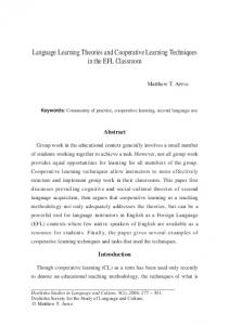 Language Learning Theories and Cooperative Learning Techniques ...