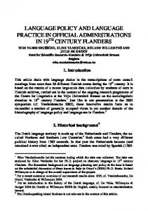 language policy and language practice in official administrations in 19 ...