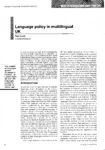 Language policy multilingual UK in - serwis.wsjo.pl