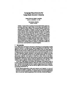 Language Requirements for Large-Scale Generic Libraries