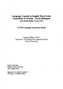 Language Transfer in English Word Order Acquisition ...