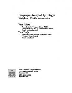 Languages Accepted by Integer Weighted Finite Automata