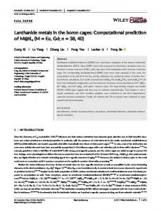 Lanthanide metals in the boron cages: Computational