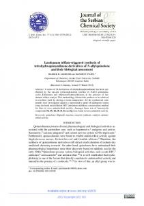 Lanthanum triflate-triggered synthesis of ... - doiSerbia