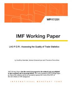 LAO PDR - IMF