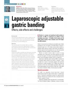 Laparoscopic adjustable gastric banding - CiteSeerX