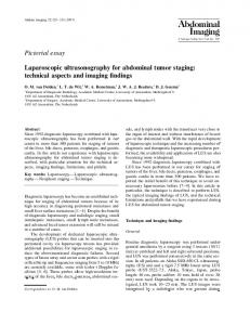 Laparoscopic ultrasonography for abdominal tumor staging: technical ...