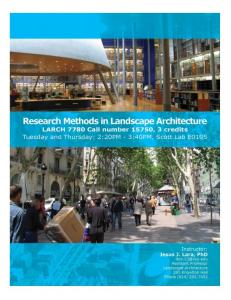 LARCH 7780: Research Methods in Landscape Architecture
