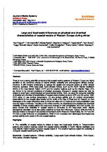 Large and local-scale influences on physical and ...
