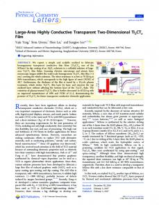 Large-Area Highly Conductive Transparent Two ... - ACS Publications