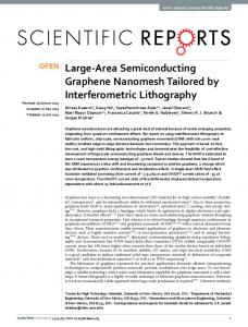 Large-Area Semiconducting Graphene Nanomesh