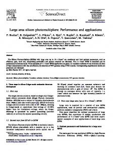 Large area silicon photomultipliers: Performance and applications