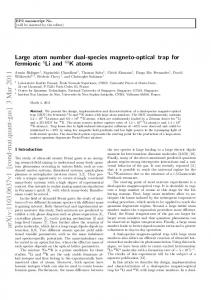 Large atom number dual-species magneto-optical trap for fermionic ...