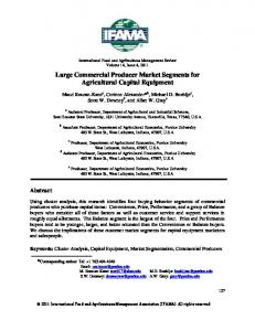 Large Commercial Producer Market Segments for Agricultural Capital ...