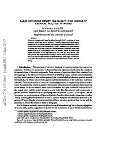 Large deviations theory for Markov jump models of chemical ... - arXiv